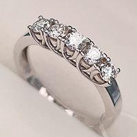 Золотое кольцо с бриллиантами 0.50Сt VS2,SI1/H EX-Cut, фото 1
