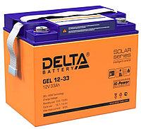 Аккумулятор Delta GEL 12-33  (12В, 33Ач)