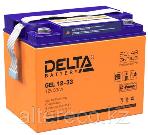 Аккумулятор Delta GEL 12-33  (12В, 33Ач), фото 2