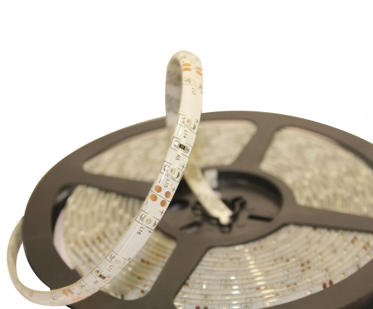 Влагозащищенная светодиодная лента SMD 3528, 240 д/м, цвет - белый, (катушка 5м)