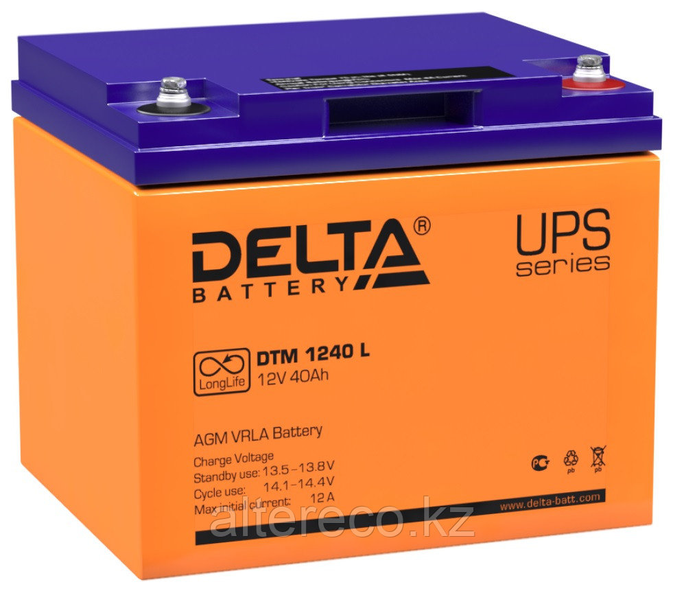 Аккумулятор Delta DTM 1240 L (12В, 40Ач)