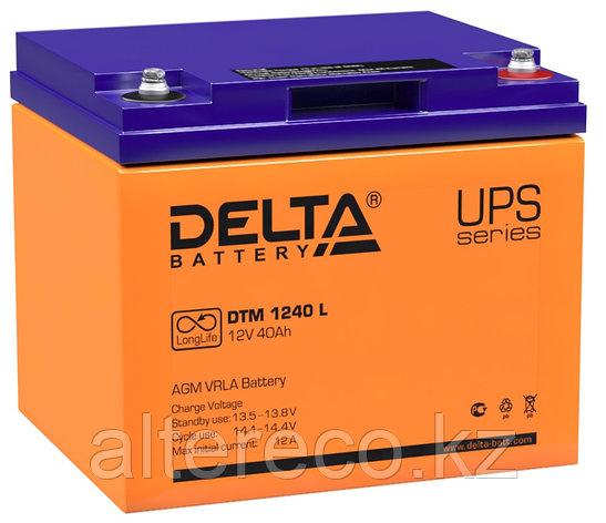 Аккумулятор Delta DTM 1240 L (12В, 40Ач), фото 2
