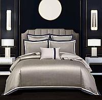Комплект постельного белья двуспальный из сатина с мелкой полоской