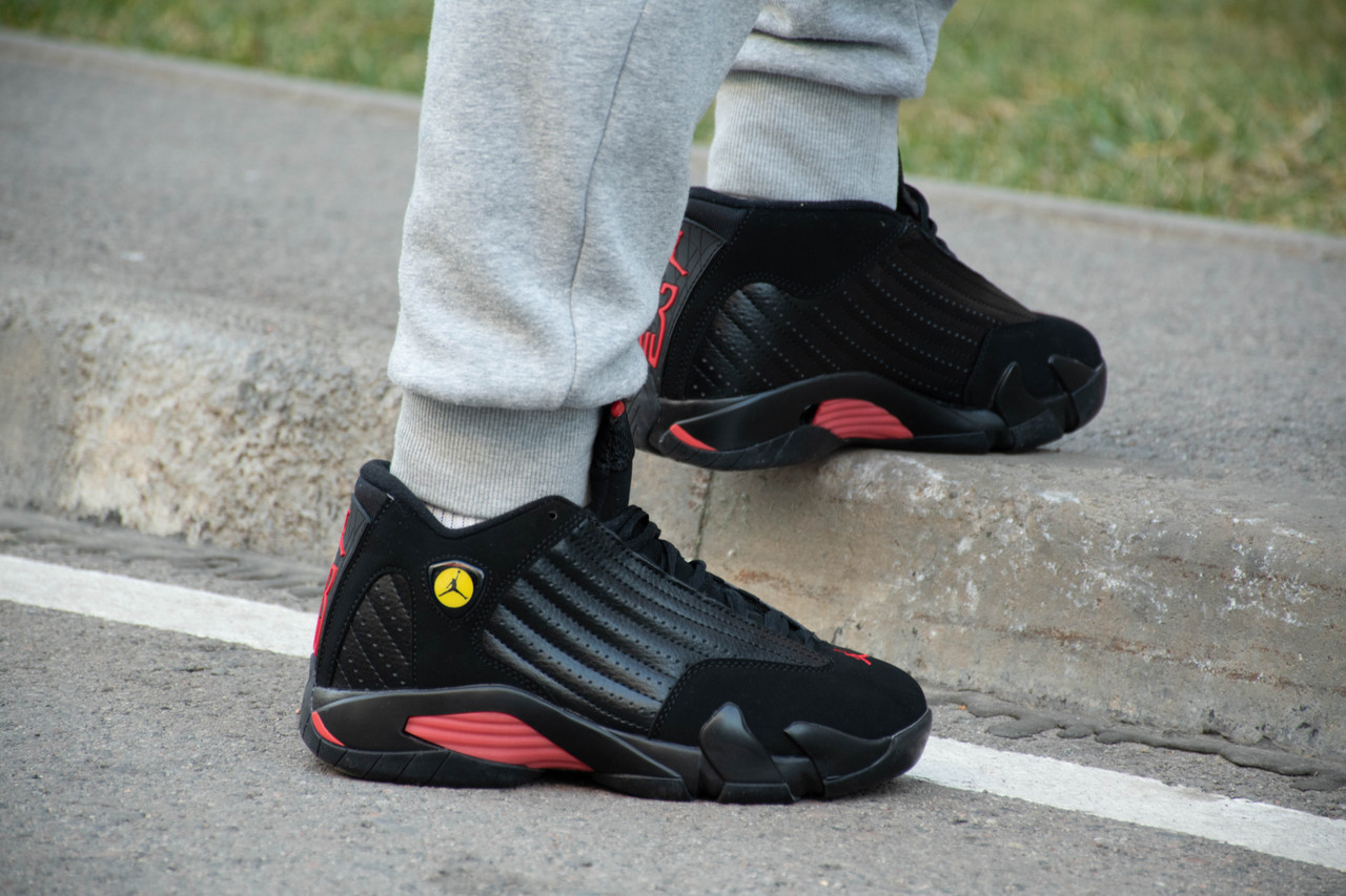 Кроссовки Air Jordan 14 Black - фото 4