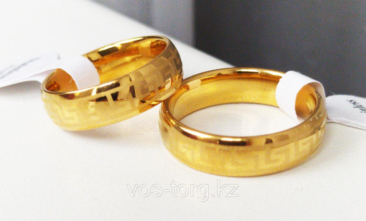 """Кольцо обручальное """"Wedding ring"""" позолота - фото 3"""