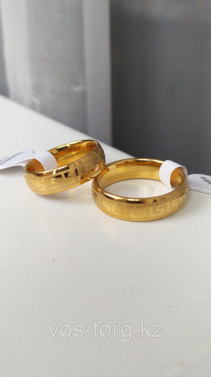"""Кольцо обручальное """"Wedding ring"""" позолота - фото 4"""