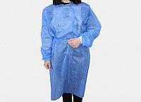Халат одноразовый хирургический, спанбонд 42 гр, цвет голубой