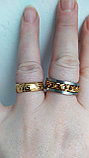"""Кольцо обручальное """"Wedding ring"""" позолота, фото 5"""