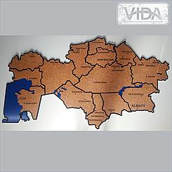 Карта Казахстана из ПВХ