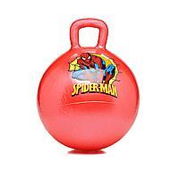 Мяч-попрыгун с ручкой для детей, красный, 38 см