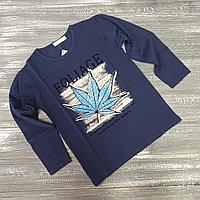 Лонгслив для мальчиков (Foliage темно-синий)
