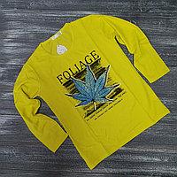 Лонгслив для мальчиков (Foliage желтый)
