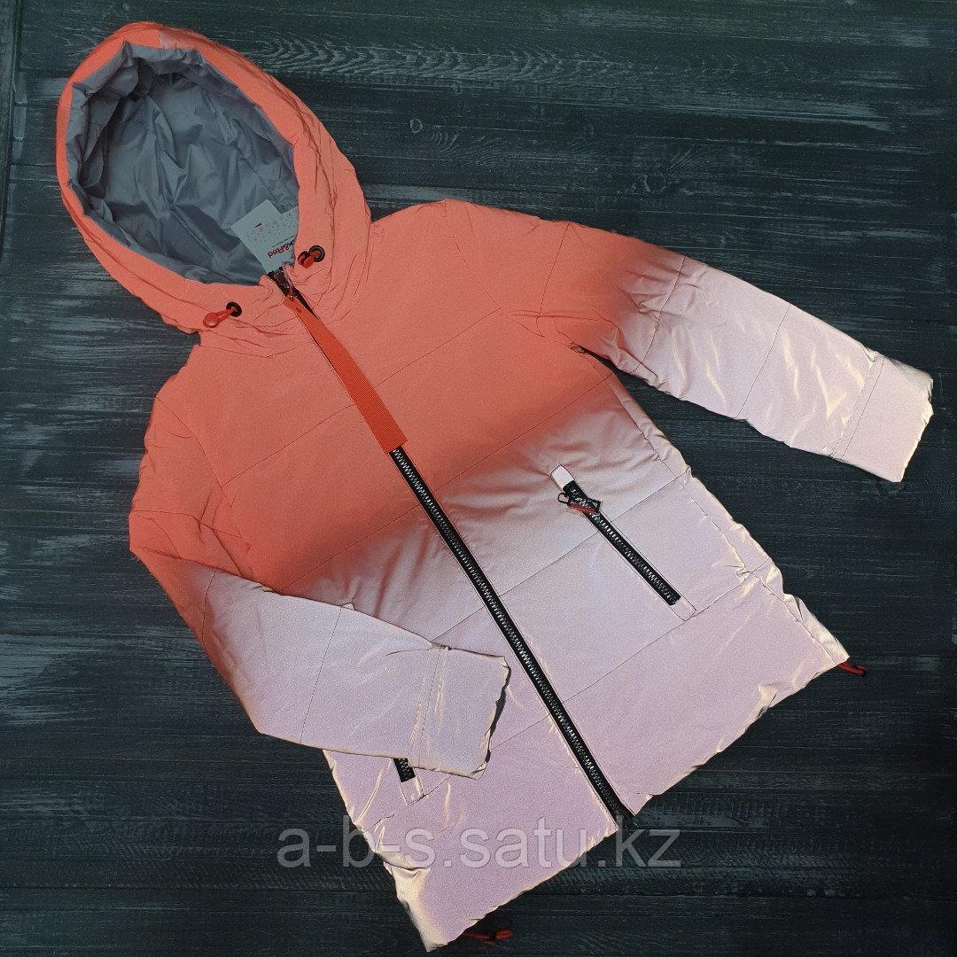 Куртка для девочек, 158см (светоотражающая (весна)