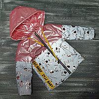 Куртка для девочек (перламутрово-розовая,светоотражающая, весна)