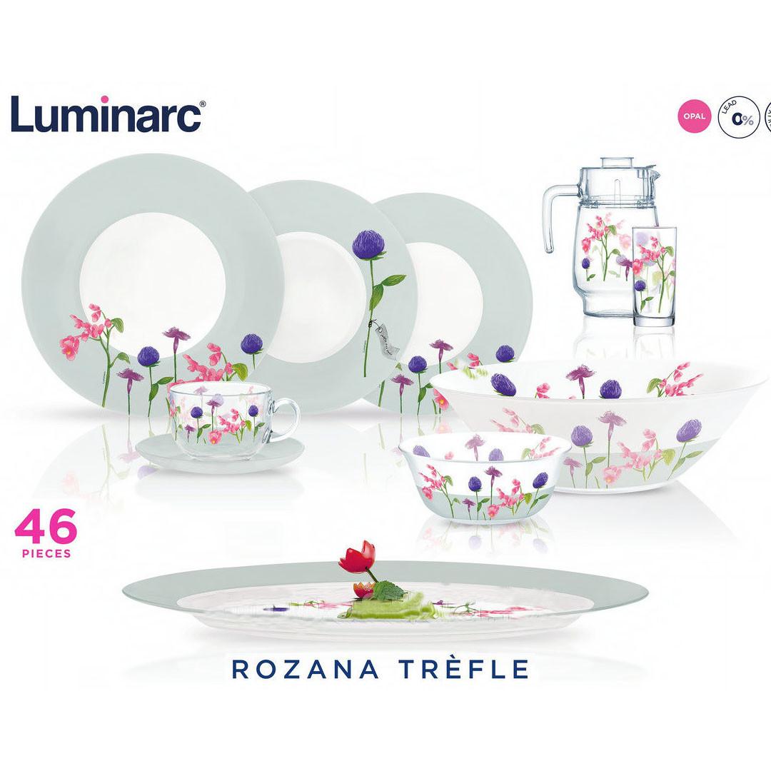 Столовый сервиз Luminarc rozana trefle 46 предметов на 6 персон