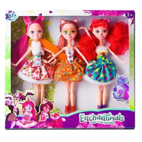Набор кукол Enchantimals (Три подруги) - фото 1