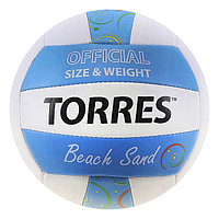 Мяч волейбольный Torres Beach Sand Blue, V30095B, размер 5, TPU, машинная сшивка