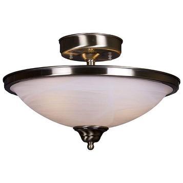 "Люстра ""Мэдисон"" 2 лампы бронза, металл, стекло 60W Е27 S=6 м2 25х41х41 см"