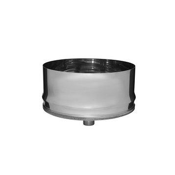 Заглушка Феррум П внутренняя нержавеющая 430/0,5 мм, d 197, с конденсатоотводом