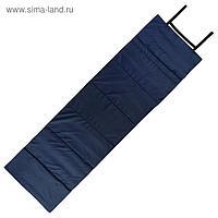 Коврик складной 170 х 51 см, цвет темно - синий/голубой