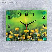 "Часы настенные, серия: Цветы, ""Лето"", 20х26 см микс"