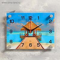 """Часы настенные, серия: Море, """"Пляж"""", 20х26 см, микс"""
