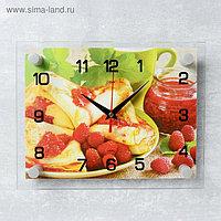 """Часы настенные, серия: Кухня, """"Блинчики с вареньем"""", 20х26 см микс"""