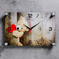 """Часы настенные, серия: Люди, """"Плюшевое сердце"""", 20х30 см"""