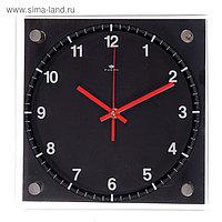 """Часы настенные, серия: Классика, """"Чёрная классика"""", 25х25 см"""