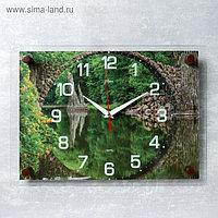 """Часы настенные, серия: Природа, """"Мост"""", 25х35 см микс"""