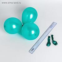 """Шар латексный 5"""", металл, набор 100 шт., водные бомбочки, цвет зелёный"""