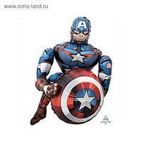 """Шар фольгированный 39"""" «Мстители. Капитан Америка», ходячий"""