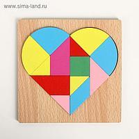 Головоломка «Строй фигуры и узоры», сердце