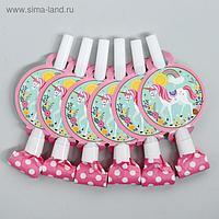 Карнавальный язычок «Единорог», набор 6 шт.
