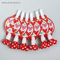 Карнавальный язычок «Сердце», набор 6 шт.