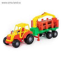 Трактор с полуприцепом-лесовозом «Мастер»