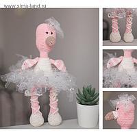 Мягкая игрушка «Фламинго Джули», набор для вязания амигуруми, 17 × 5 × 15 см