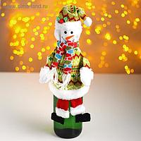Одежда на бутылку «Снеговик»