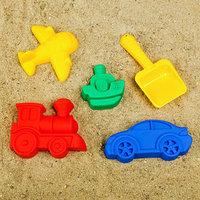 Набор для игры в песке 104 4 формочки, совок с камешками, МИКС