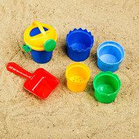 Набор для игры в песке 106 совок, 4 формочки, лейка, МИКС