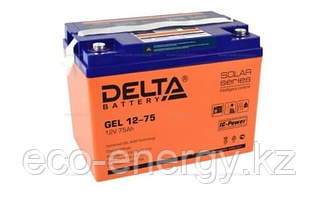 Аккумуляторная батарея Delta GEL 12-75 (12V / 75Ah)