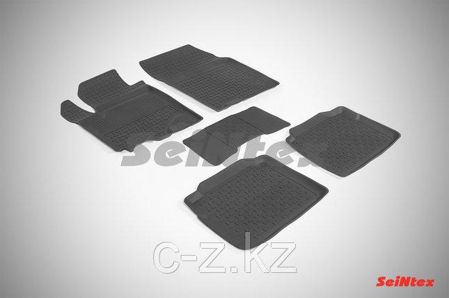 Резиновые коврики с высоким бортом для Suzuki SX4 II 2013-н.в., фото 2