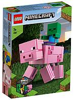LEGO: Большие фигурки Свинья и Зомби-ребёнок Minecraft 21157