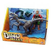 Набор Мегалозавр и охотник со снаряжением CHAPMEI