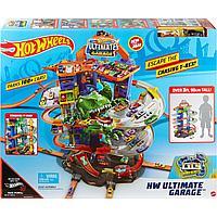 Набор игровой Hot Wheels Сити Невообразимый гараж с тиранозавром