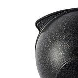 Казан для плова 3,5л со стеклянной крышкой, АП линия «Granit Ultra» (Original), фото 2