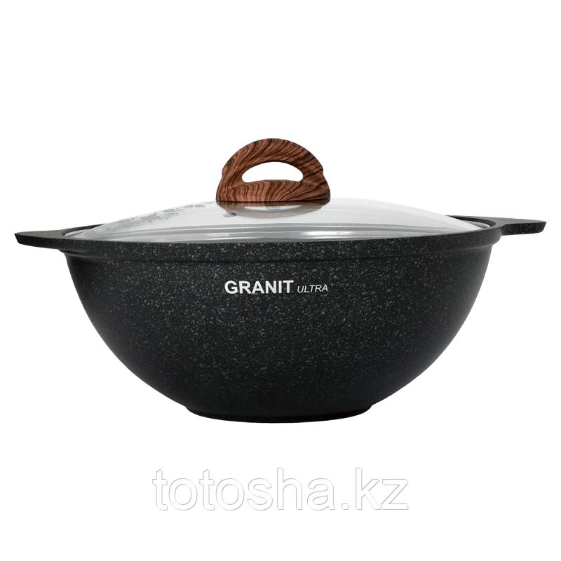 Казан для плова 3,5л со стеклянной крышкой, АП линия «Granit Ultra» (Original)