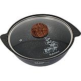 Казан для плова 3,5л со стеклянной крышкой, АП линия «Granit Ultra» (Original), фото 4