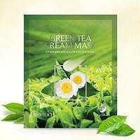 Тканевая маска с зеленым чаем Deoproce Green Tea Cream Mask