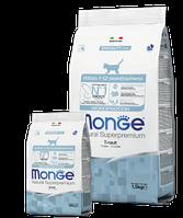 5470 MONGE Cat Monoprotein Kitten Trout Сухой монопротеиновый корм для котят с форелью, уп.400 гр.